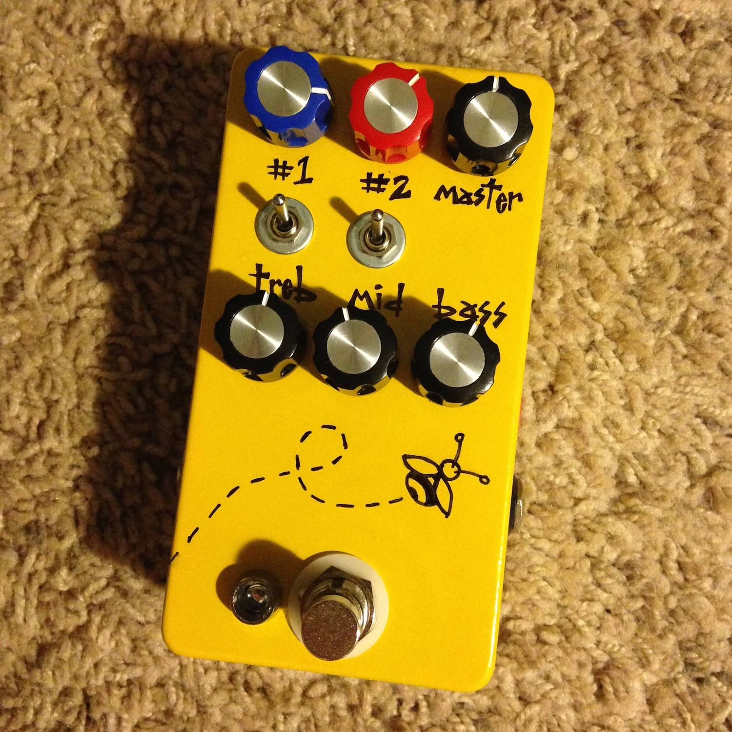 Hungry Robot Pedals Bumblebee EQ/Boost/Overdrive/Distortion/Fuzz