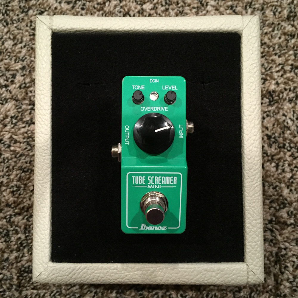 Ibanez Tube Screamer Mini (with FoxPedal TS808 mod)