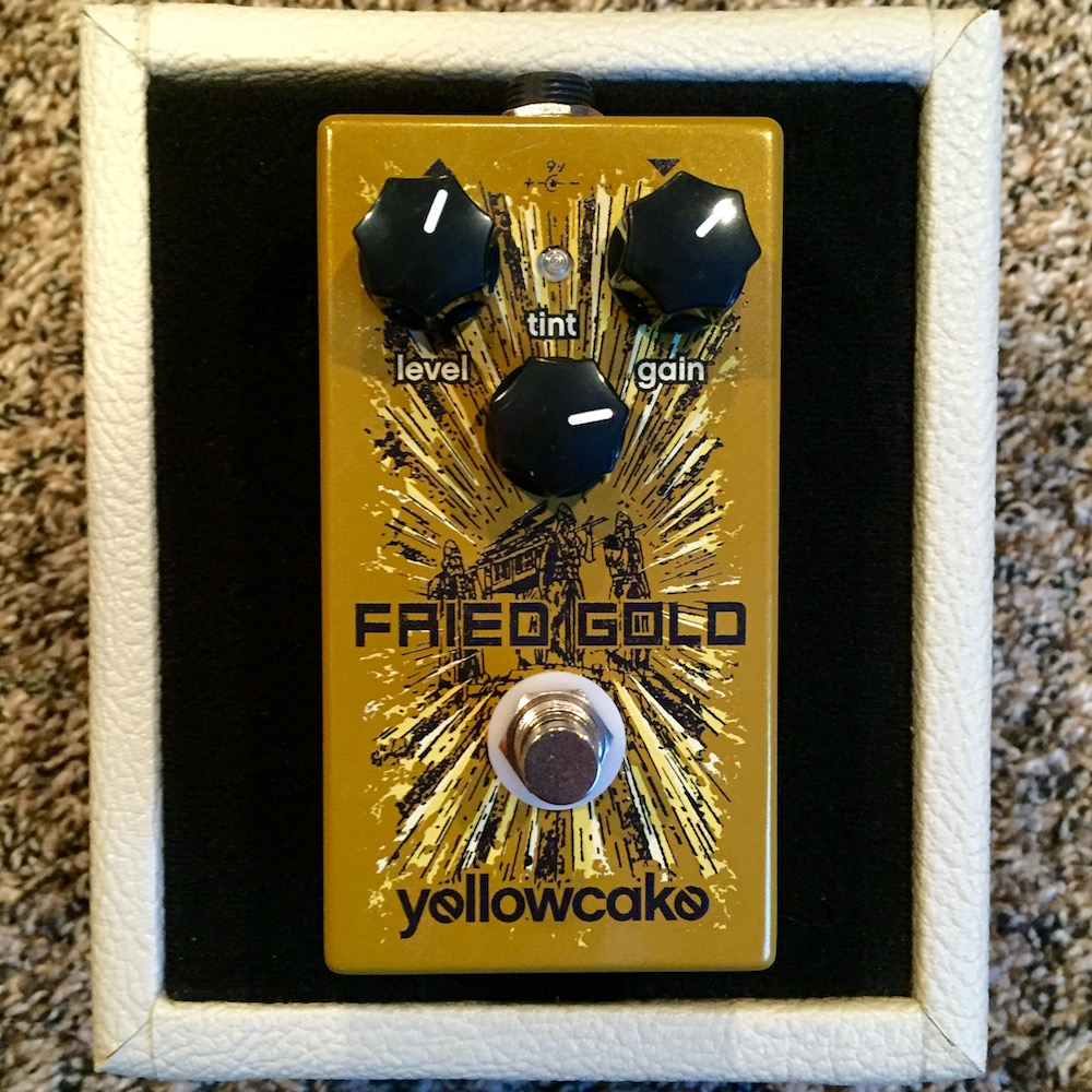 Yellowcake Pedals Fried Gold Overdrive