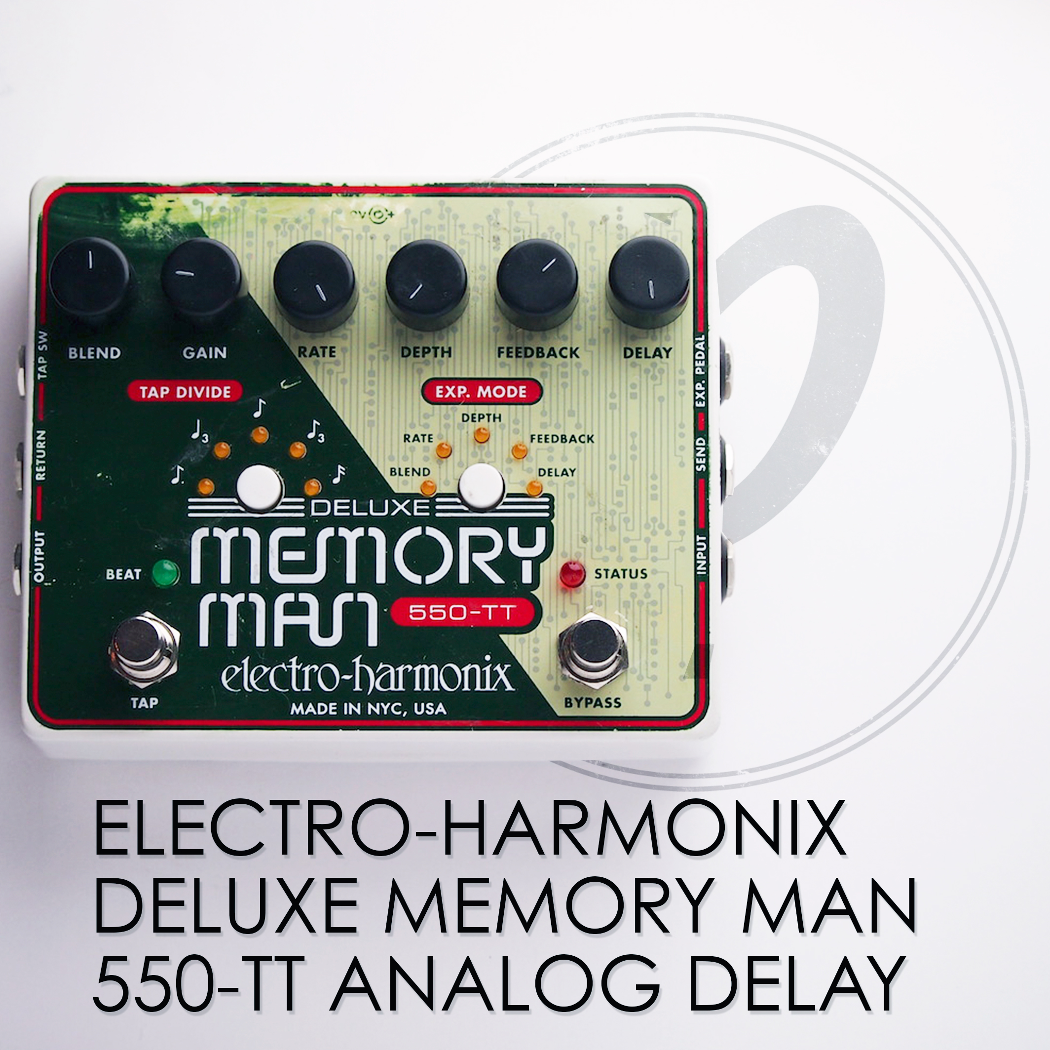 electro harmonix deluxe memory man 550 tt analog delay pedal of the day. Black Bedroom Furniture Sets. Home Design Ideas
