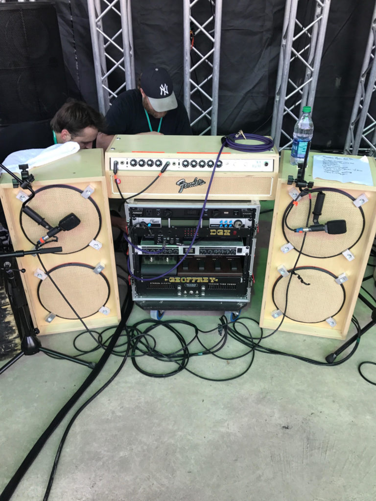 Mihali Savoulidis - Twiddle - Fender - Speaker Cabinets - Rack Gear