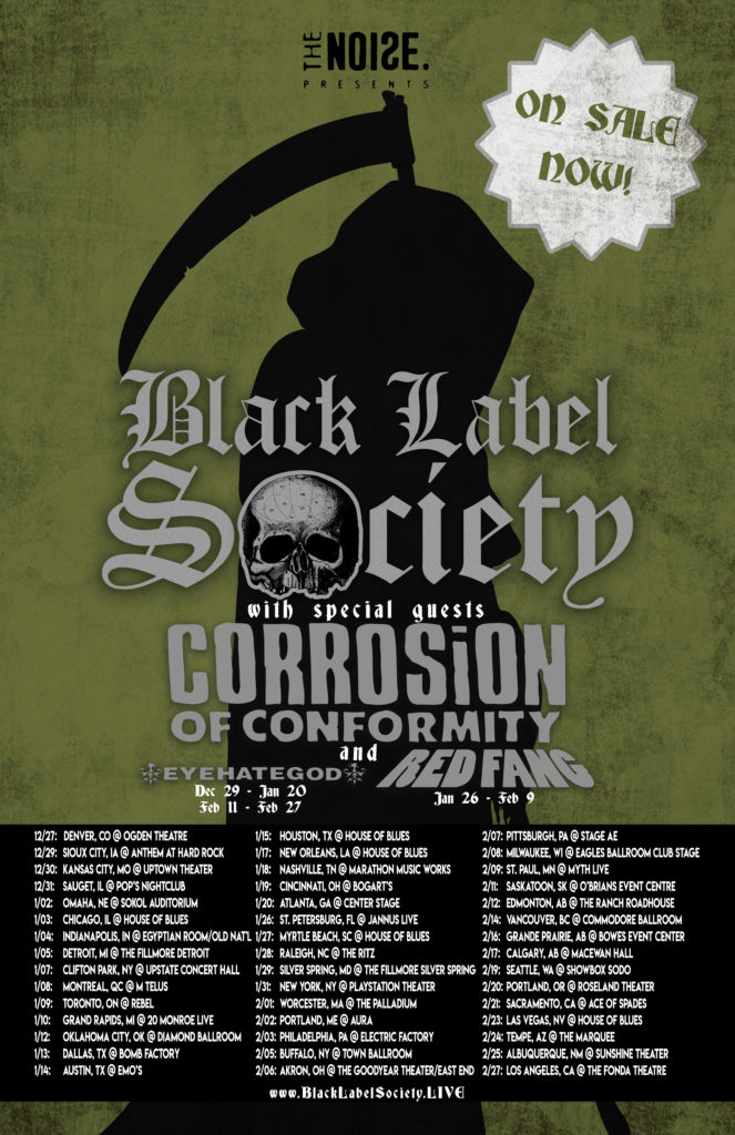 Corrosion of Conformity Tour Dates 2017-2018