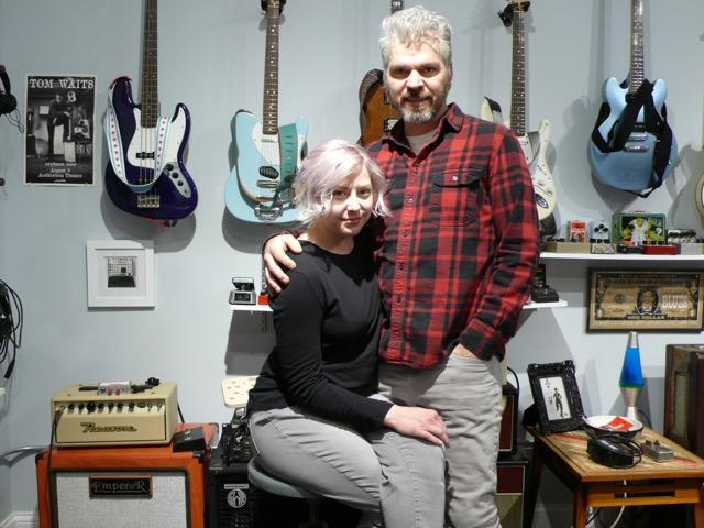 Johnny & Victoria Balmer at the Alchemy Audio Shop