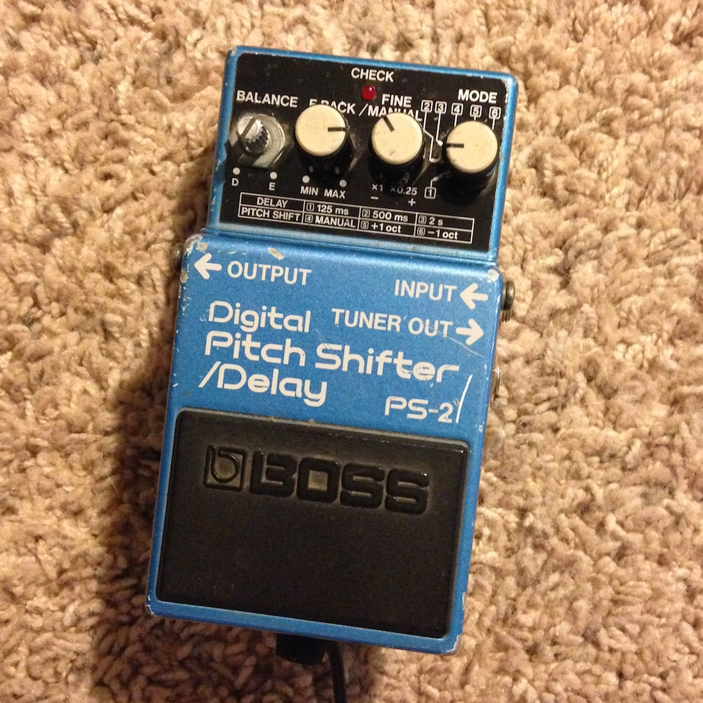 boss ps 2 digital pitch shifter delay pedal of the day. Black Bedroom Furniture Sets. Home Design Ideas