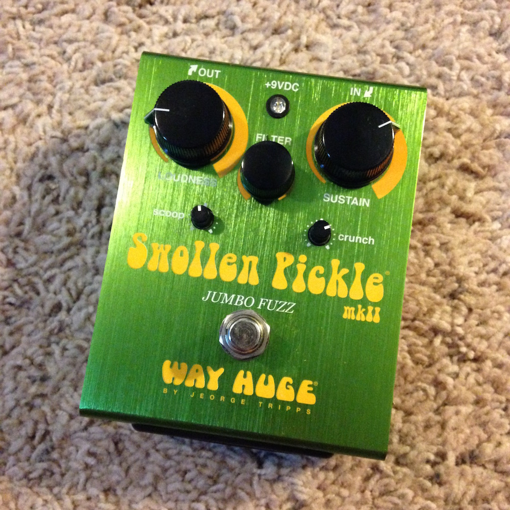way huge electronics swollen pickle fuzz pedal of the day. Black Bedroom Furniture Sets. Home Design Ideas
