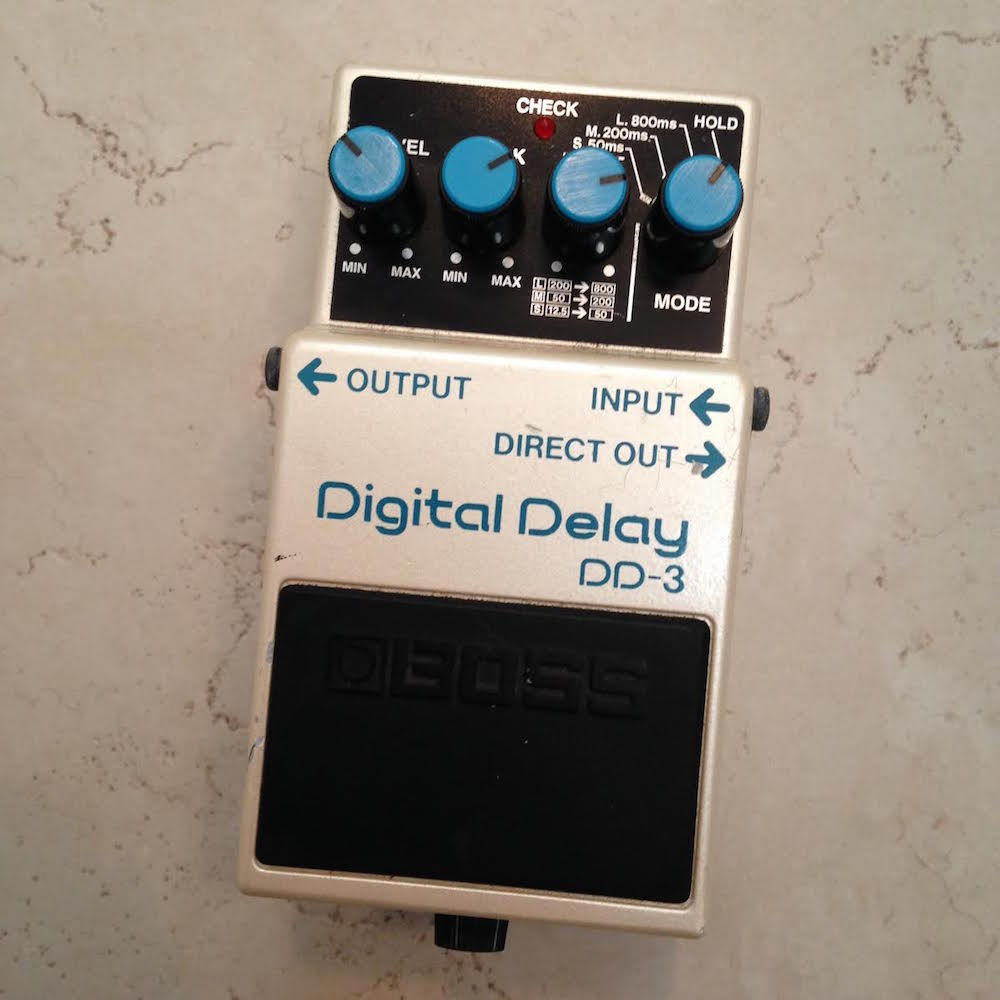 boss dd 3 digital delay pedal of the day. Black Bedroom Furniture Sets. Home Design Ideas