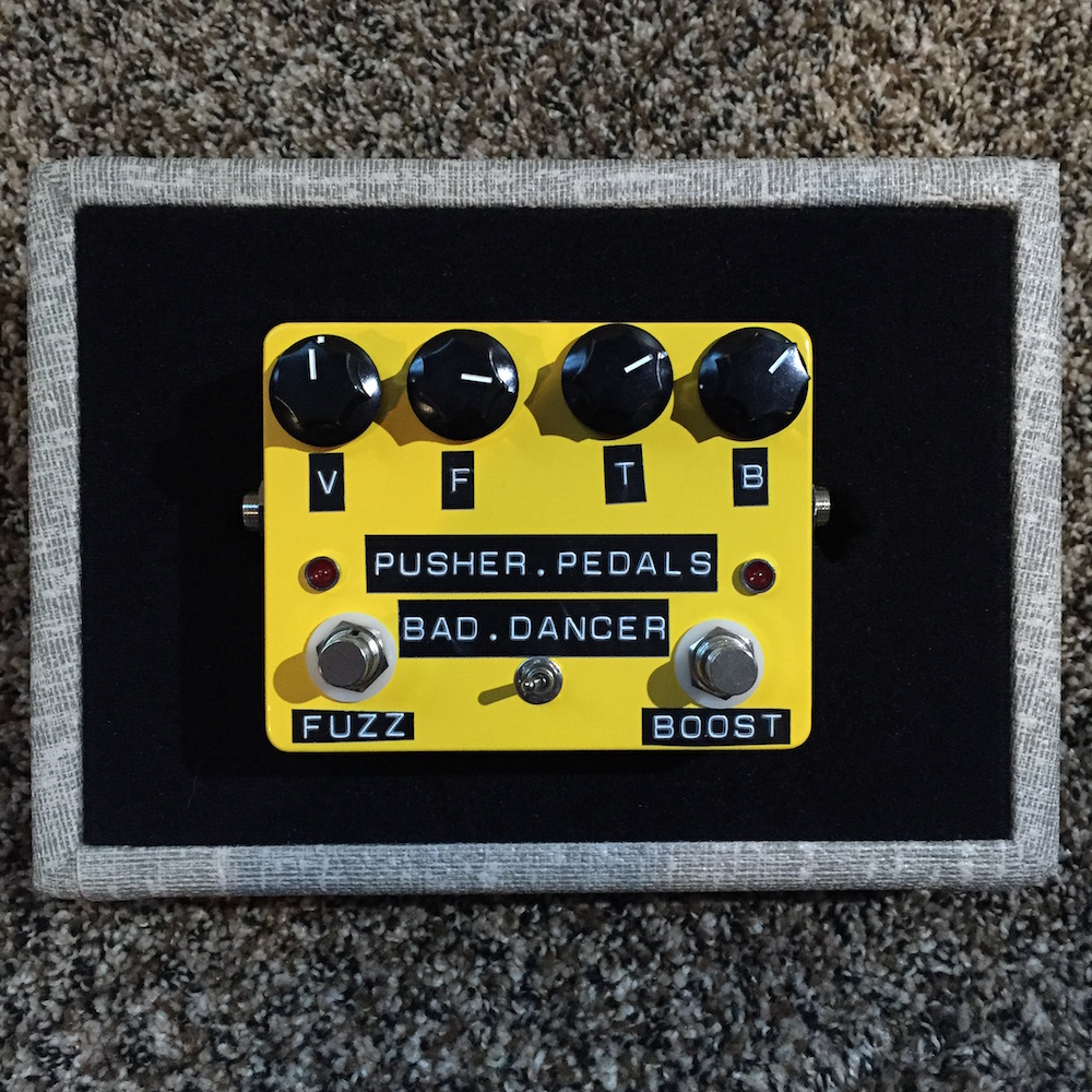 pusher pedals bad dancer fuzz boost pedal of the day. Black Bedroom Furniture Sets. Home Design Ideas